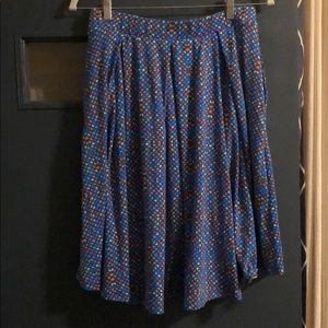 Colorful Printed Madison LuLaRoe Skirt